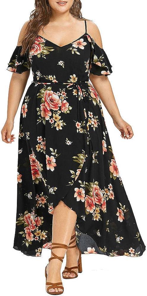 Plus Size Dresses for Women V-Neck Bandage Summer Dress Wedding Short Sleeve Maxi Skirt Vestidos de Mujer