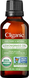 Sponsored Ad - Cliganic USDA Organic Lemongrass Essential Oil, 1oz - 100% Pure Natural Undiluted, for Aromatherapy Diffuse...