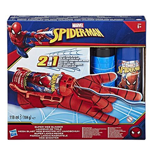 Spiderman-2 In 1 Guanti Da Tiro UNA Rete (acqua E Rete).