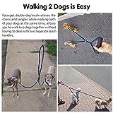 Doppelte Hundeleine, Focuspet geflochtene Hundeleine für zwei Hunde - 6