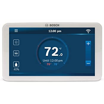 Bosch BCC100 Connected Control Smart Phone Wi-Fi Thermostat - Works with Alexa - Touch Screen