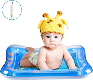 Baby Toys Tummy Time Mat - TFS Inflatable Water Play Mat for Infants & Newborns Toy, Activity Center Sensory Development Toys for 0 3 6 9 12 Months Old Boys & Girls (Air Pump Included)
