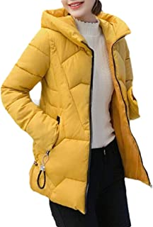 Macondoo Women's Fashion Cotton-Padded Outwear Puffer Hooded Down Jacket