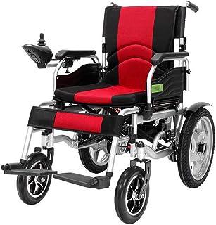 BYCDD El Transporte de Eléctrica Power Chair, Portátil Motor de Seguridad Silla de Ruedas Sillas De Ruedas Motorizadas el Transporte fácil de Usar Silla de Ruedas,Red