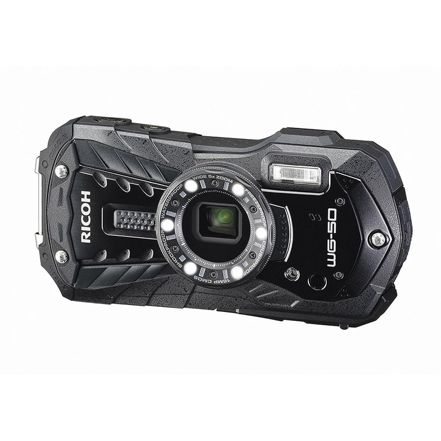 無眉をひそめる乗ってRICOH 防水デジタルカメラ RICOH WG-50 ブラック 防水14m耐ショック1.6m耐寒-10度 RICOH WG-50 BK 04571