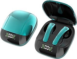 H HILABEE TWS Bluetooth 5,0 vattentäta hörlurar med laddningsfodral inbyggd mikrofon touch kontroll brusreducerande hörlur...