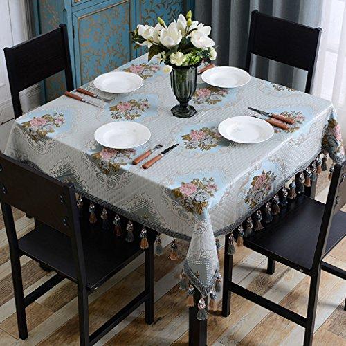 LWF Europees tafelkleed, tafelkleed, Europese doek, huishouden, woonkamer, westerse tafel, salontafel, bedekt doek, kleine vierkante tafel (160 x 160 cm)