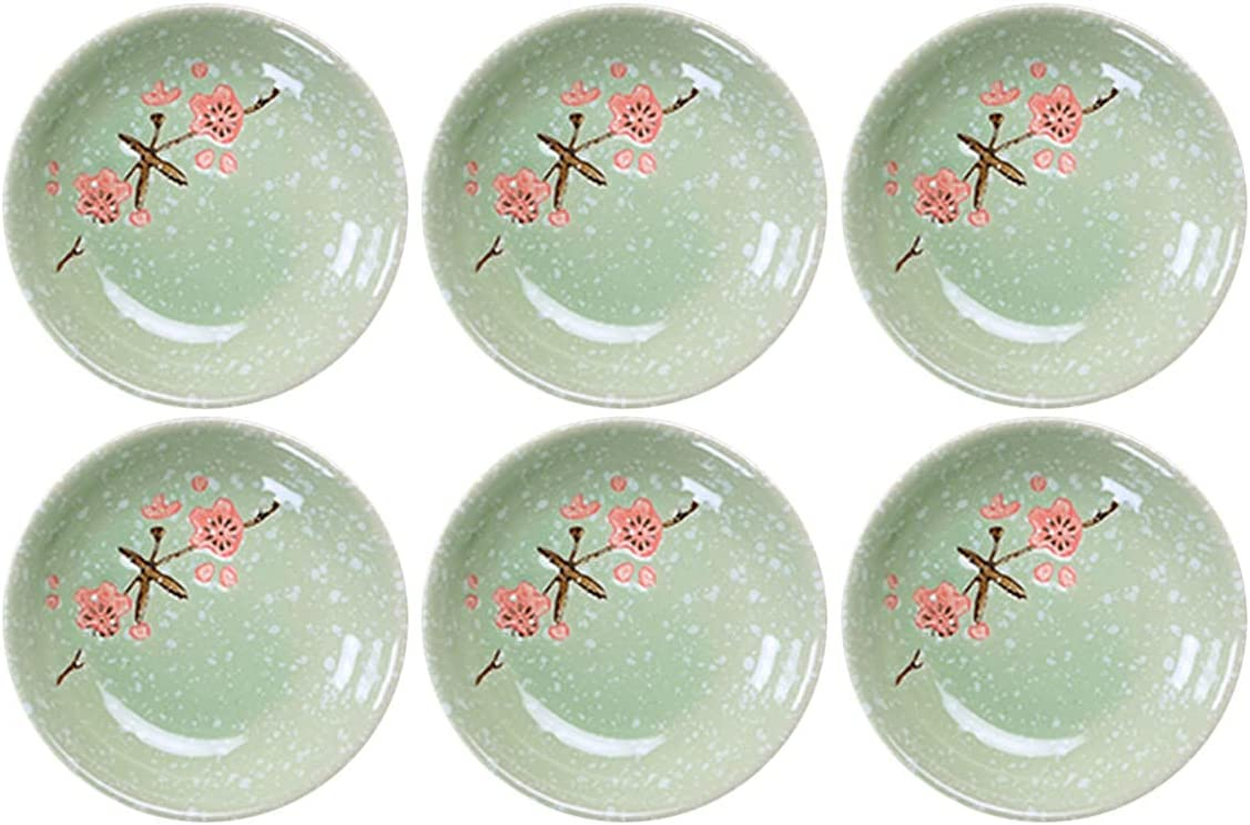 Sizikato 6pcs Complete Free Shipping Sauce Dish Long Beach Mall 3.7-Inch Porcelain Bowls Snow Dipping