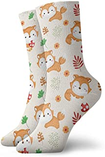 iuitt7rtree, Calcetines de running Fox Background Athletic Casual