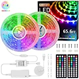 Rxment RGB LED Strip Lights with Remote 10M...