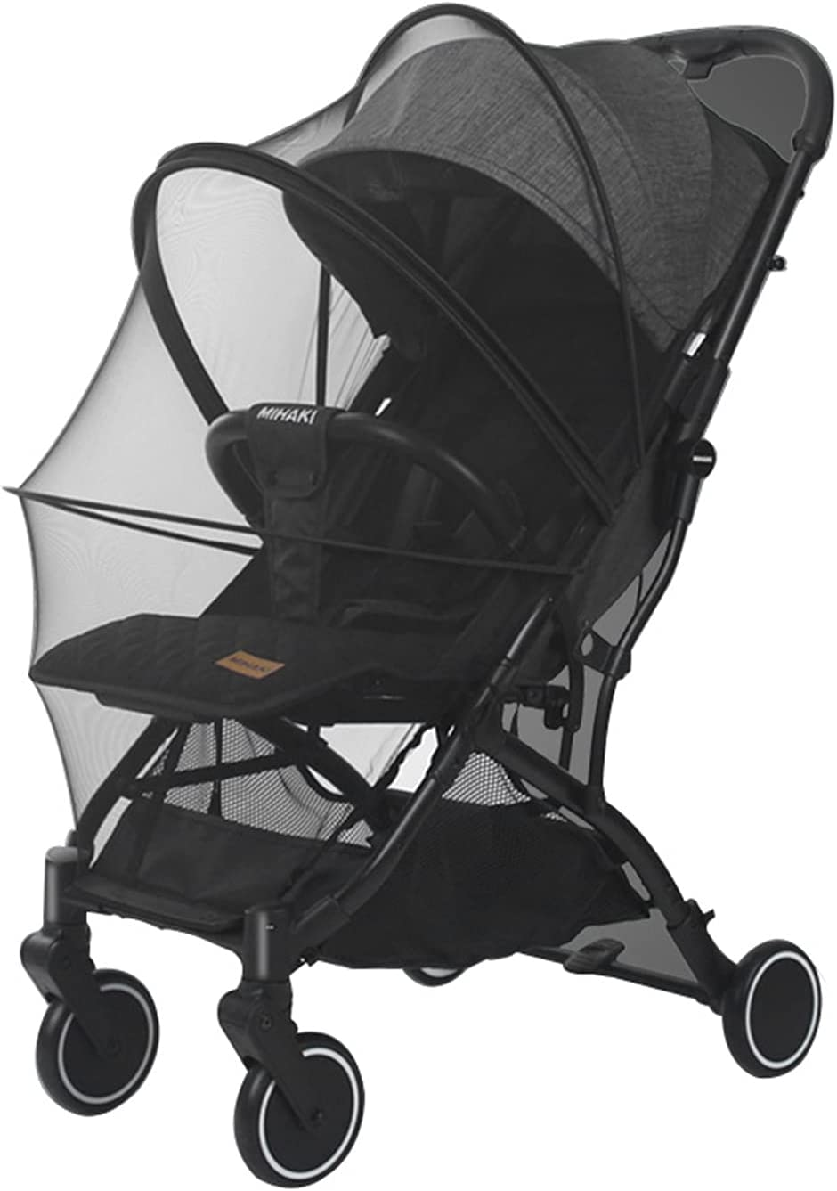 Baby Stroller Mosquito nets, Universal Lock-Type Baby Stroller Mosquito nets, Stretch nets, Breathable and Folding Dual-use Zipper nets, Baby car seat Covers, Cradles (Black)