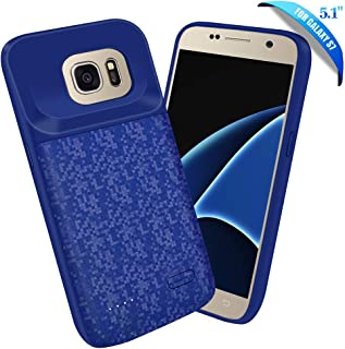Elebase Galaxy S7 Battery Case,4700mAh Portable External Backup Charging Pack,Rechargeable Impact Resistant Extended Power Charger Case Compatible Samsung Galaxy S7(Not for Galaxy S7 Edge) (Blue)