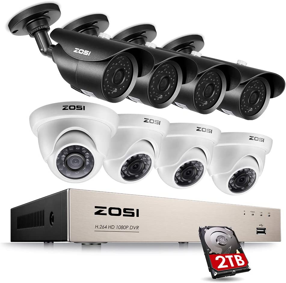 ZOSI 1080P 5 ☆ very popular Security System 8 Channel w Direct sale of manufacturer HD-TVI Video DVR Recorder