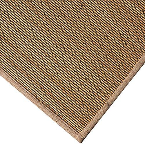 JIAJUAN Japanisch Traditionell Teppich Bambus Geflochten rutschfest Atmungsaktiv Groß Fußboden Matte Bereich Teppiche Matratze Einfach Zu Säubern (Farbe : B, größe : 50x150cm)