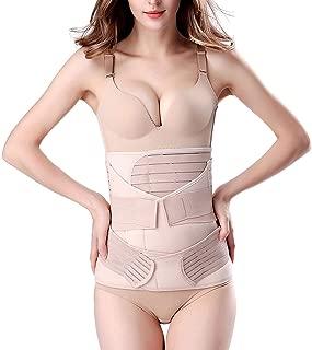 3 in 1 Postpartum Support Recovery Belly Wrap Waist/Pelvis Belt Body Shaper Postnatal Shapewear (One Size)
