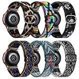 20mm Elastic Band Compatible for Samsung Galaxy Active 2 40mm/44mm/Adjustable Fabric Breathable Stretchy Band for Samsung Galaxy Watch Active 2/Galaxy Watch 3 41mm/Galaxy Watch 42mm Band 6 Park