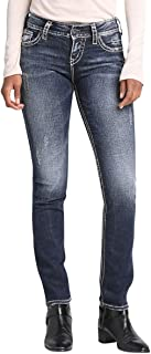 Silver Jeans Co. Women's Suki Curvy Fit Mid-Rise Straight Leg
