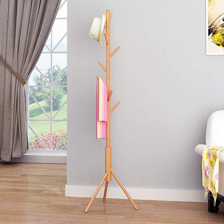 Shiyanghang Solid Wood Coat Rack 46×168cm Floor Hanger Assembly Tree Simple Modern Easy Inssizetion Living Room Bedroom Hanger with Tripod Base (color   Solid Wood)