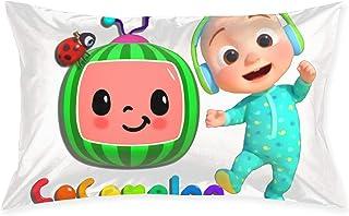 AgoodShop Cocomelon-Nursery Rhymes رمي الوسائد المريحة ، غطاء وسادة السرير أغطية وسادة الزخرفية 20x30 بوصة