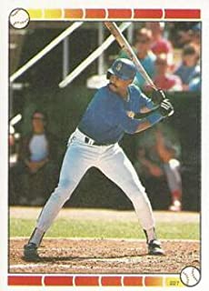 1989 Topps Stickers Baseball #227c Alvin Davis Seattle Mariners Barry Bonds Sticker Back Official MLB 1.5 Inch X 2.5 Inch Tall Album Sticker