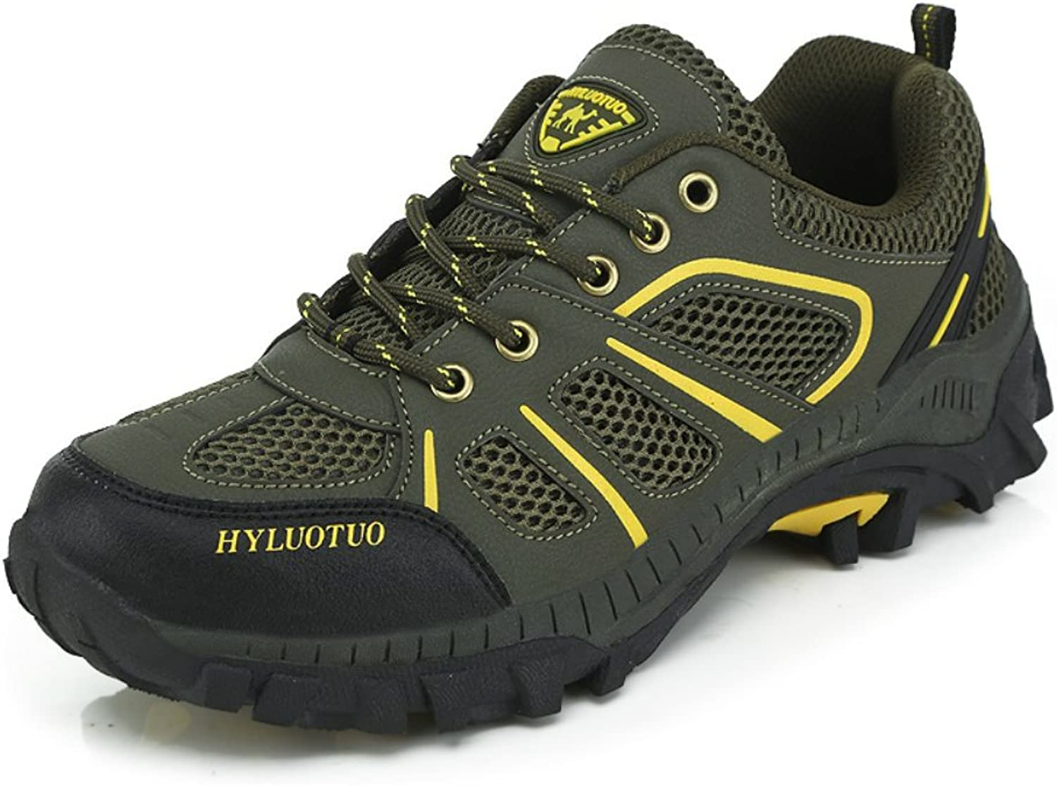 Mens Walking Hiking Trail Outdoors Ventilator Mesh Breathable shoes Green