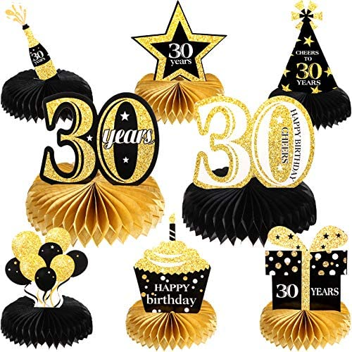 30th birthday table decorations