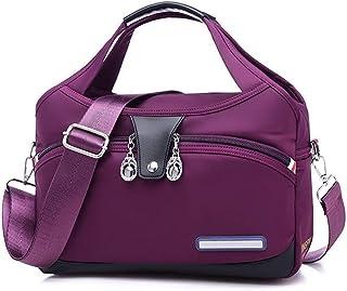 Ms. Oxford Cloth, Travel/Leisure Travel Bag Out, Large-capacity Portable Shoulder Messenger Bag 29CM * 12CM * 28CM. jszzz (Color : Purple)
