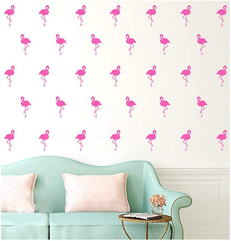 15pcs Flamingo Wall Stickers Kids Bedroom Nursery Party Wall Decorations Pink