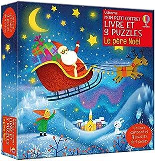Le père Noël - Mon petit coffret Livre et 3 puzzles