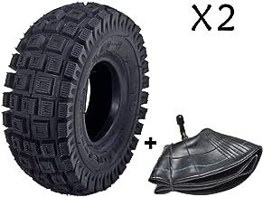 JCMOTO 2 Sets of 3.00-4 Tire & Inner Tube for Scooters Go Kart Rocket Chopper Goped Bike - 10 x 3   260 x 85   9x3.50/3.00-4
