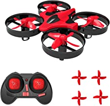 SKYKING Remote Control Drone Nano Drone S-011 Nano Quadcopter 3D Flips Headless Mode 6 Axis Gyroscope Extra Propellers Kids Red