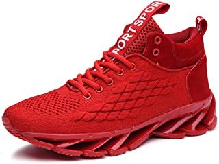 Rizeson Mens Mesh Breathable Comfortable Non-Slip Walk Sports Shoes Comfortable Sneakers Running Cushion Shoes Unisex Sports Shoes Comfortable Wear Walking Shoes Track Trail Shoes Skateboarding Shoes