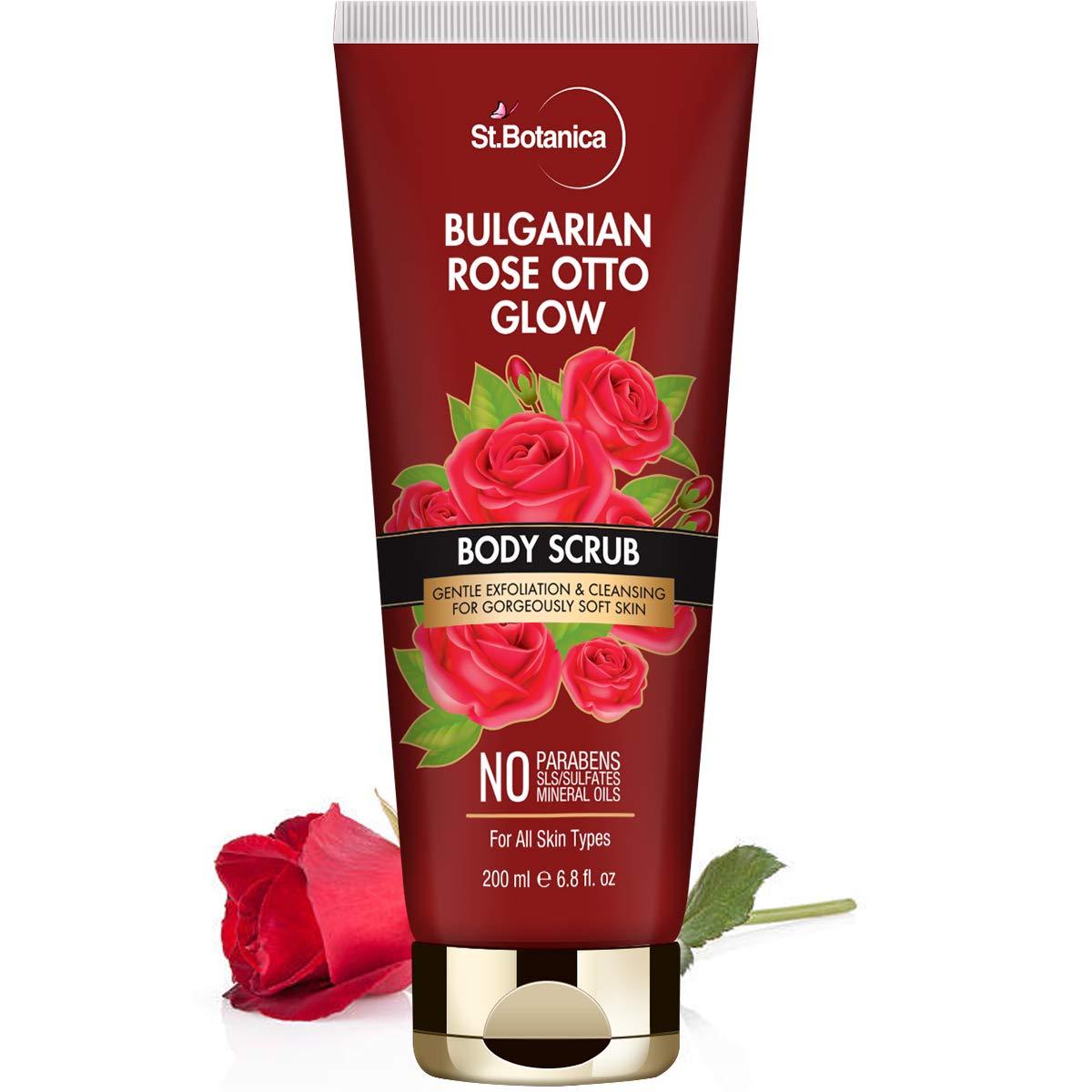 High order Year-end gift StBotanica Bulgarian Rose Otto Glow Gentle Exfoliat Body Scrub