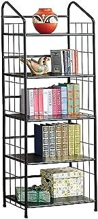 5-shelf Metal Bookcase Black