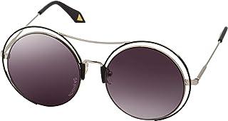Sky Vision Round Sunglasses for Women, Black Lens, 20866