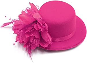 BAOBAO Women Flower Mini Top Hat Fascinator Wedding Party Bridal Hair Clip Hairpin