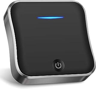 Wsky Bluetoothトランスミッター レシーバー 一台二役 受信機 送信機 高音質 低遅延 bluetooth 5.0 トランスミッター aptx-LL apt-X HD対応 光ケーブル付 小型 ブラック BT-B19