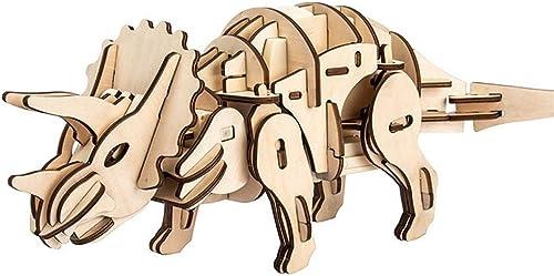 LHYP 3D-Holz Puzzle-Sound-Steuerung Dynamische Dinosaurier-Puzzle, DIY-Dinosaurier-Roboter Holz Craft-Spielzeug-Kit Für Das Alter Von 8 + Junge P gogische Geschenk