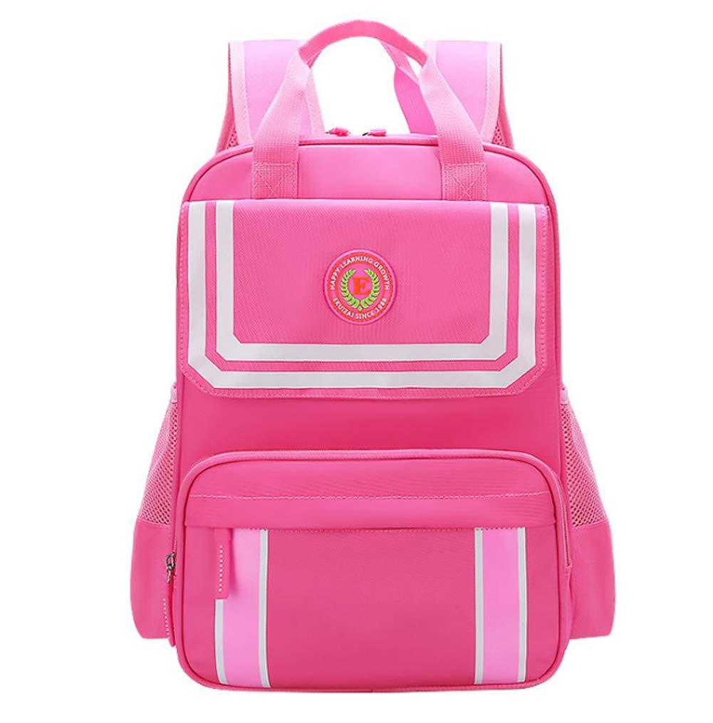 香榭芭黎 小学生书包 1-3-6年级男女儿童补习袋新款6-12周岁减负护脊双肩包 (粉色小号)