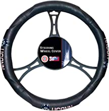 "Officially Licensed NCAA Steering Wheel Cover, 14.5""-15.5"", Black"