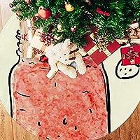ツリースカート クリスマスツリースカート いちご ミルクティー かわいい ホリデーデコレーション メリイクリスマス飾り 下敷物 可愛い 雰囲気 クリスマスパーティー 直径107cm