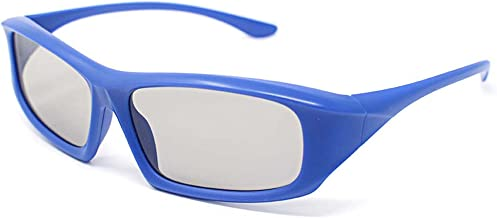 1 Pair of Blue Adults Passive 3D Glasses Universal in a Wraparound Style for All Passive TVs Cinema and Projectors Such as RealD Toshiba LG Panasonic and More