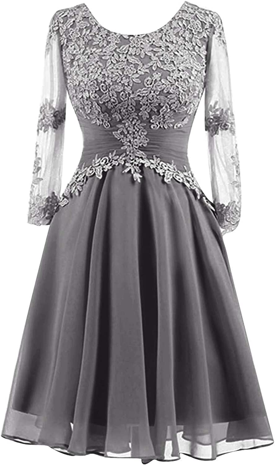 H.S.D Mother of The Bride Dress Short Mother Dresses Lace Evening Formal Gowns Sleeve