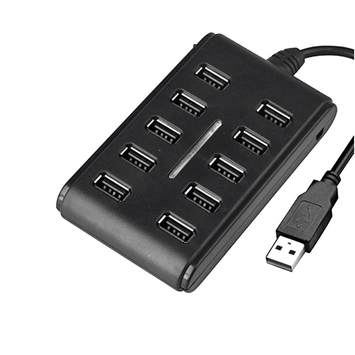 Ywillink 10 Ports Hub USB 2.0 High Speed Adapter Extension Cable Plug & Play for PC Laptop