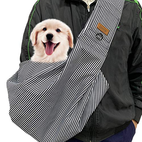 DAMIFAN pet Carrier Comfortable Dog Sling Backpack for Small Dogs and Puppy Shoulder Strap Adjustable pet Sling Carrier