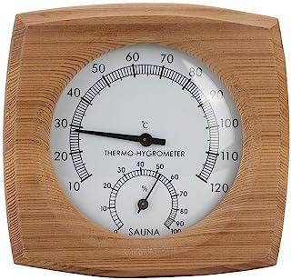 Cosiki 𝐑𝐞𝐠𝐚𝐥𝐨 𝐝𝐞 𝐍𝐚𝒗𝐢𝐝𝐚𝐝 Termómetro para Sauna, 2-en-1 Termohigrómetro de Madera para Interiores Termómetro...