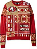NFL SAN FRANCISCO 49ERS PATCHES Ugly Sweater, Small