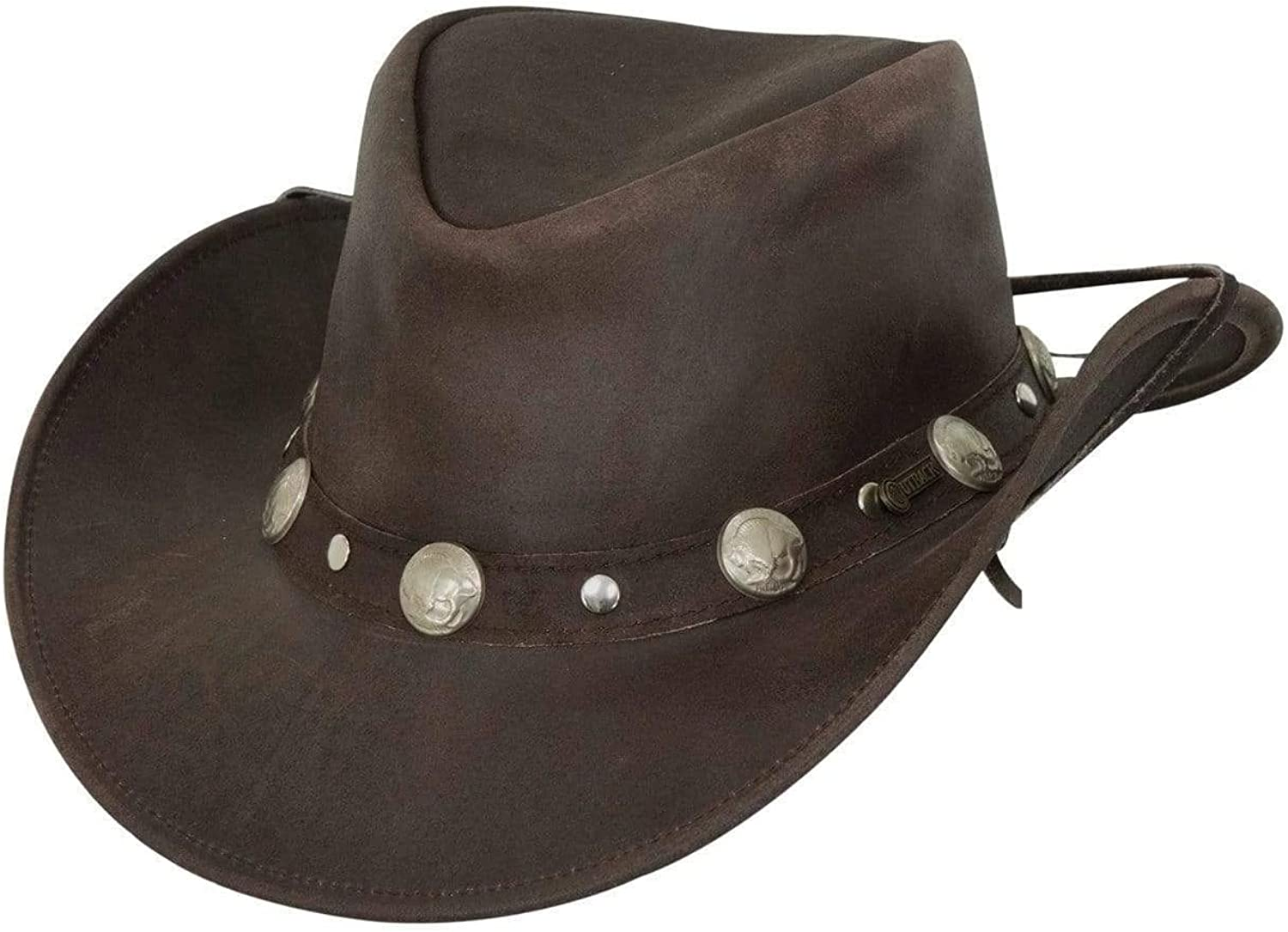 Outback Trading Men's 1376 Rawhide UPF wi 50 Hat Leather Western Chicago Mall Ranking integrated 1st place
