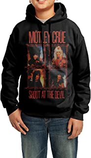 B00O4CY60A-Motley Crue-Shout Wire Men's Cool Long Sleeve Hoodie Black
