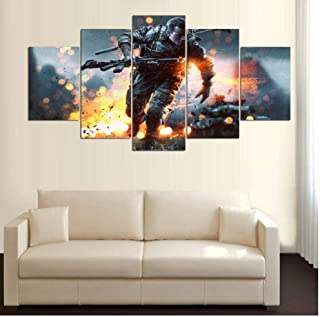 Wwwx 5 Hd Printed Battlefield Game Poster Wall Pictures for Living Room Decoration Pictures
